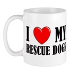 Love My Rescue Dogs Mug