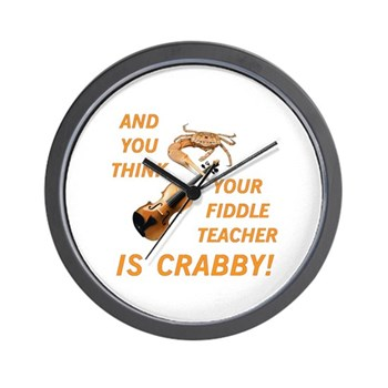 Crabby Fiddle Teacher Clock
