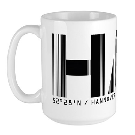 Hannover Airport Code Germany HAJ Large Mug