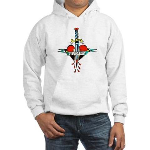 Mi Vida Loca Tattoo Art Hooded Sweatshirt