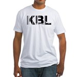 Kabul Airport Code Afghanistan KBL Fitted T-Shirt