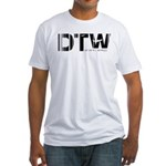 Detroit Airport Code Michigan DTW Fitted T-Shirt