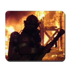 Firefighter Action Photo Mousepad