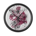 """Blood on the Cross"" Large Wall Clock"