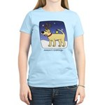 Reindeer Yellow Lab Women's Light Tee Shirt