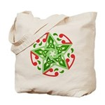 Celtic Christmas Star Tote Bag
