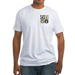 Pharmacology Pop Art Fitted T-Shirt