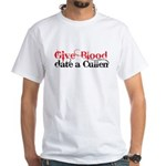 Give Blood Date a Cullen White T-Shirt
