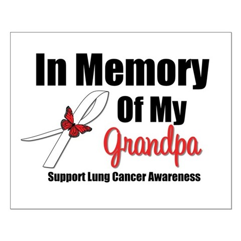 lung cancer ribbon. InMemoryGrandpa Lung Cancer