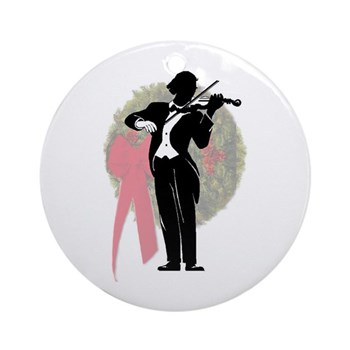 Noel Violin Ornament
