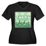 Twilight Forks Women's Plus Size V-Neck Dark T-Shi