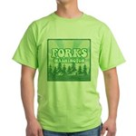 Twilight Forks Green T-Shirt