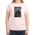 Abraham Lincoln Women's Pink T-Shirt