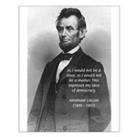 President Abraham Lincoln Small Poster