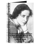 Philosopher: Hannah Arendt Journal
