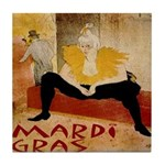 Mardi Gras Tile Coaster