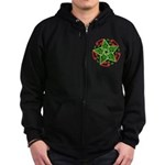 Celtic Christmas Star Zip Hoodie (dark)