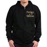Sherbet Father of the Groom Zip Hoodie (dark)