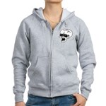 Screaming Skull Women's Zip Hoodie