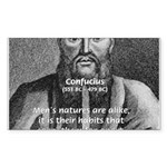 Eastern Wisdom: Confucius Rectangle Sticker