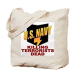 U.S. Navy Kills Terrorists Tote Bag
