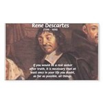 Philosopher: Rene Descartes Rectangle Sticker