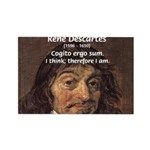 Philosopher Rene Descartes Rectangle Magnet (100 p