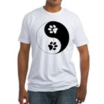 Yin Yang Paws Fitted T-Shirt