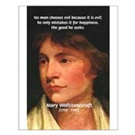 Feminist Mary Wollstonecraft Small Poster