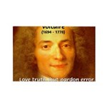 French Philosopher: Voltaire Rectangle Magnet (10