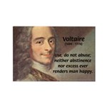 French Philosopher: Voltaire Rectangle Magnet (100
