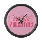 Jacob Twilight Valentine Large Wall Clock