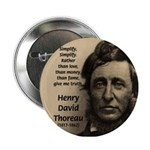Henry David Thoreau Button