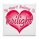 Heart Belongs Twilight Tile Coaster