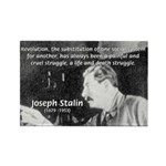 Joseph Stalin Revolution Rectangle Magnet (10 pack