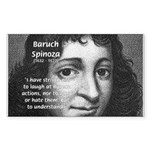 Philosopher Baruch Spinoza Rectangle Sticker