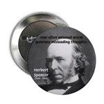 "Evolutionist Herbert Spencer 2.25"" Button (10 pack"