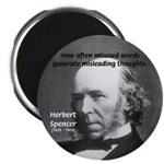 "Evolutionist Herbert Spencer 2.25"" Magnet (10 pack"