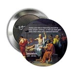 "Socrates: Knowledge Books Wisdom 2.25"" Button (100"