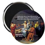 "Socrates: Knowledge Books Wisdom 2.25"" Magnet (100"