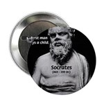 "Wisdom of Socrates 2.25"" Button (100 pack)"