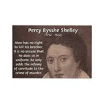 Writer Percy Bysshe Shelley Rectangle Magnet (100