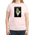 Romantic Writer: Percy Shelley Women's Pink T-Shir