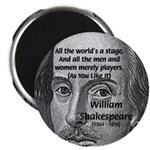 "Playwright William Shakespeare 2.25"" Magnet (100 p"