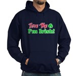 Bite Me I'm Irish Hoodie (dark)