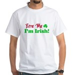 Bite Me I'm Irish White T-Shirt