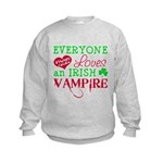 Irish Vampire Twilight Kids Sweatshirt