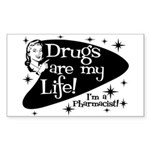 Drugs are my life Rectangle Sticker