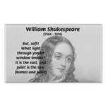 Tragic Love: Romeo and Juliet Sticker (Rectangular