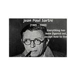 Existentialist Jean-Paul Sartre Rectangle Magnet (